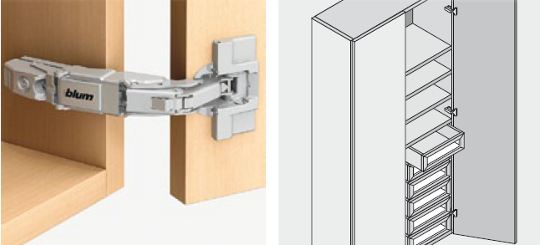 155 degree blum cabinet hinge