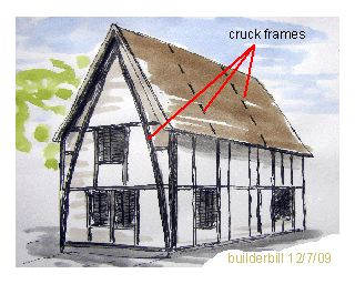 a small cruck constructed building.