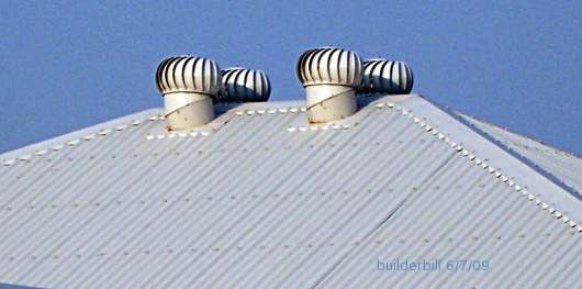 four rotary roof vents