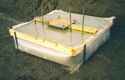 pad footing poured