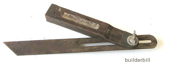 a carpenter's bevel.