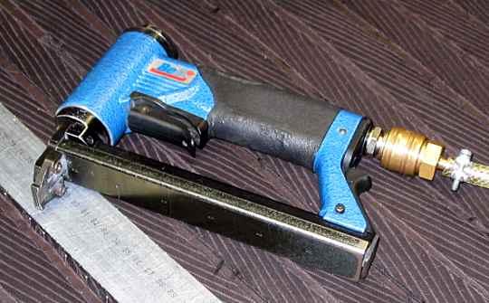 an air operated staple gun