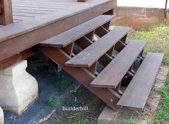 a simple all timber deck stair