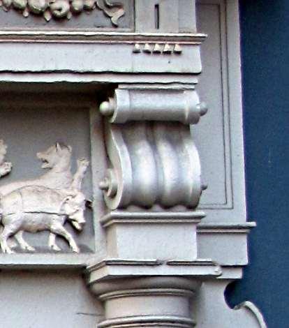 and ancone to a gate pediment in amsterdam