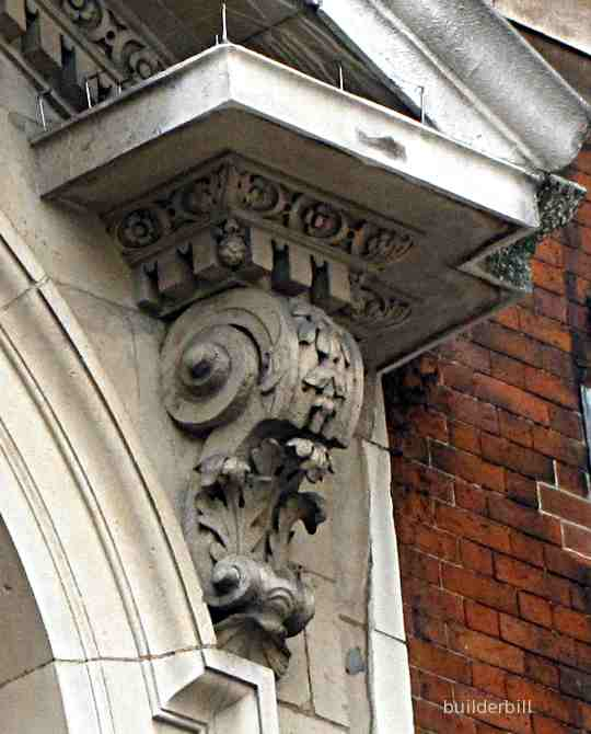 an ancone to a door pediment in greenwich