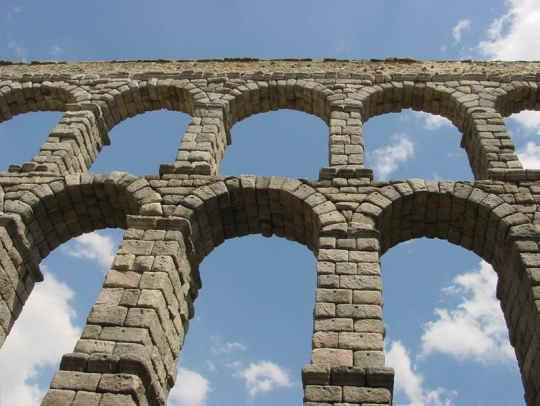 a roman arch at Segovia