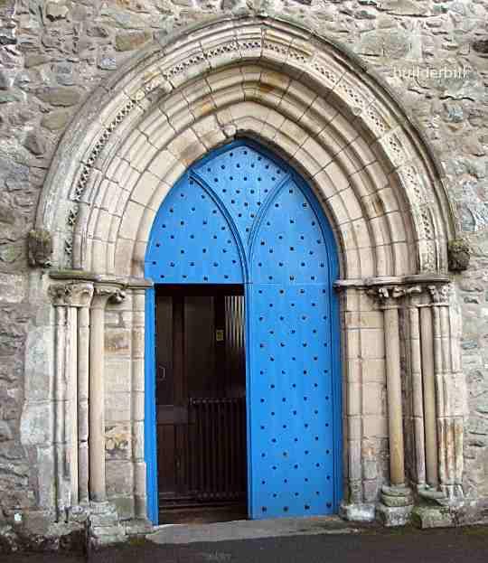 archivolt at cartmel priory church