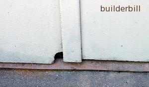 damaged asbestos wall sheets
