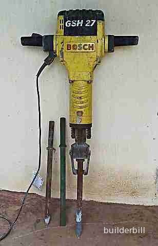 A large Bosch breaker that uses standard jackhammer tools
