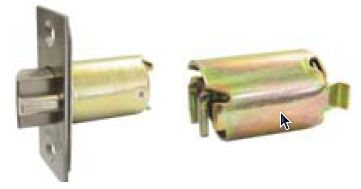 A latch bolt and a backset extension