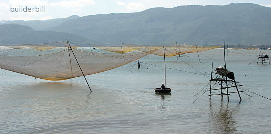 fish traps in Vietnam