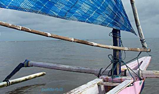 bamboo outrigger canoe