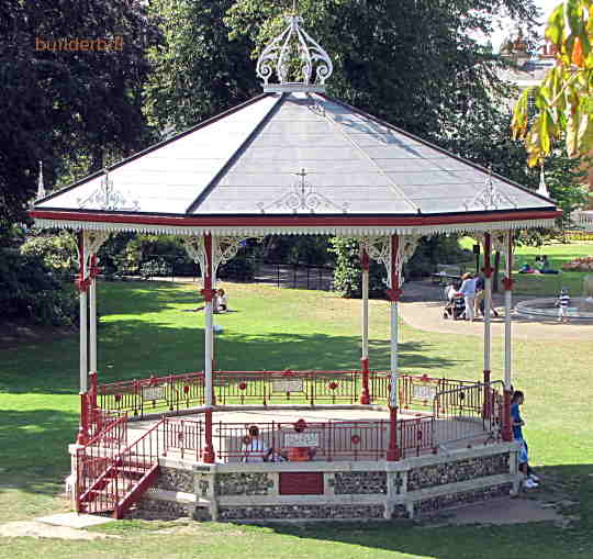 a small bandstand