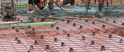 reinforcing mesh on a house slab