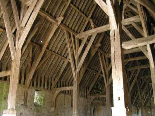 Great Coxwell barn interior