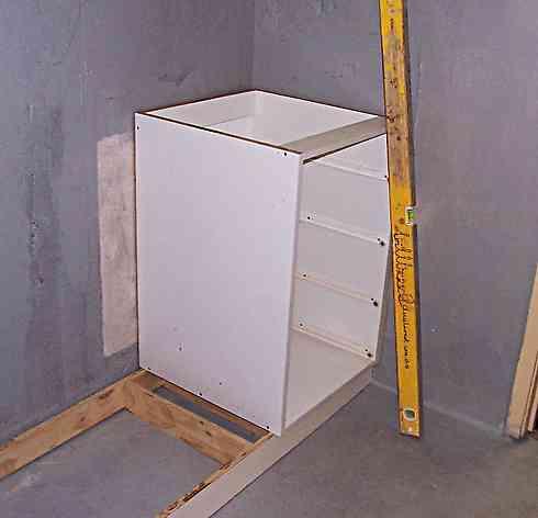 fixing a bathroom cupboard