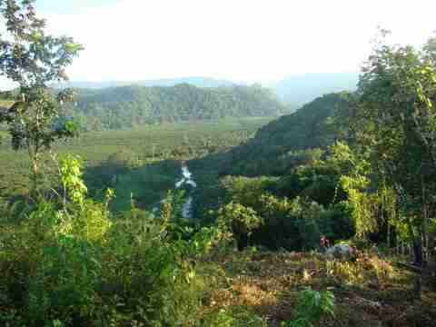 view from a hilltop in belize