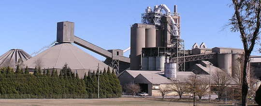 a cement factory
