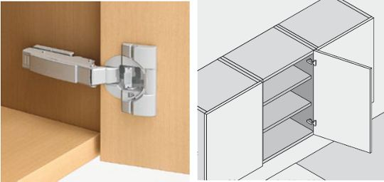 Blum Cabinet Hinges : A Modern Concealed European Cabinet Hinge. 110 Degree  Opening Angle. Image Provided By Blum Australia Pty. Ltd.