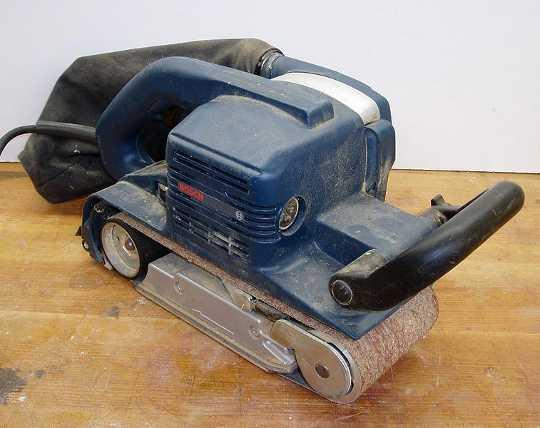 a Bosch belt sander