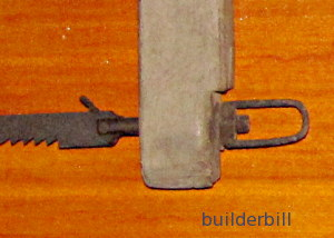teeth detail bowsaw