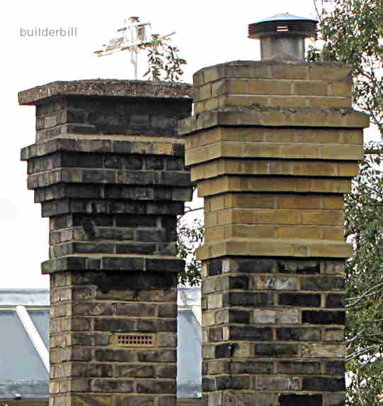 corbelled chimney tops