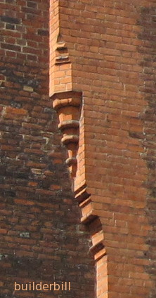 brick corbel to a chimney
