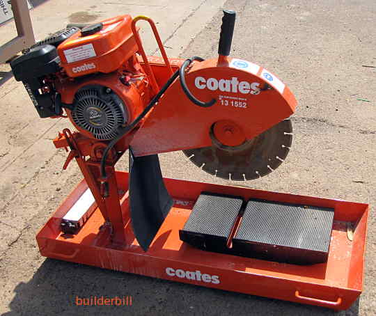 a concrete brick or block saw