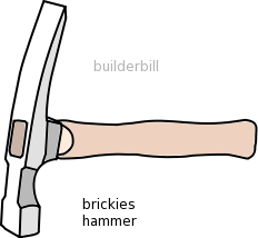 a bricklayers hammer