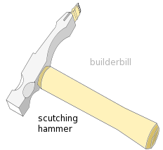 a bricklayers scutching hammer