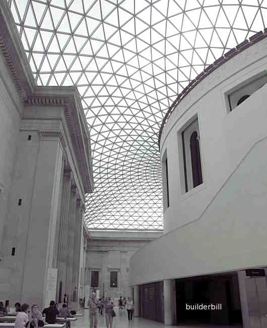 the roof of the great court of the British Museum