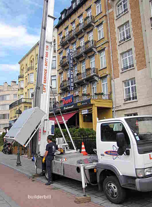 a larger ladder hoist