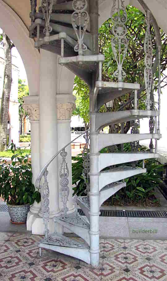 a spiral stair