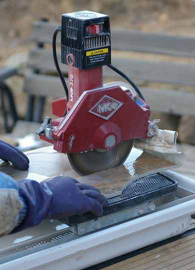 a ceramic tile cutter
