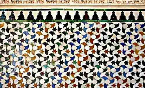 ceramic-tiles at the Alahambra in Granada spain