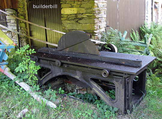 A large old circular saw