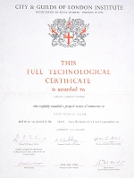 City and Guilds of London Institutes Certificate