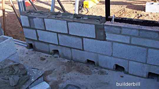 masonry blockwork walls