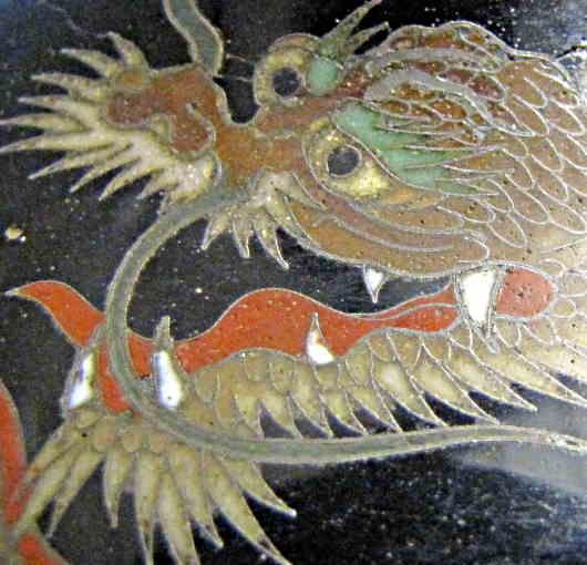 a cloisonne enamel dragon