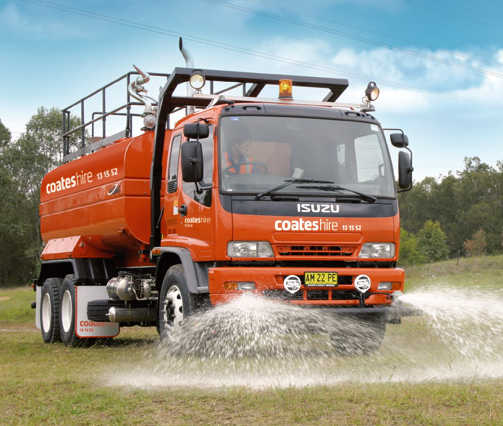 coates hire water truck