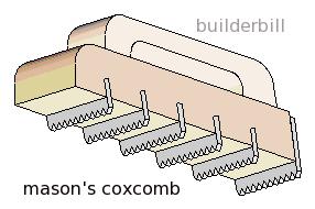 a masonry cockscomb