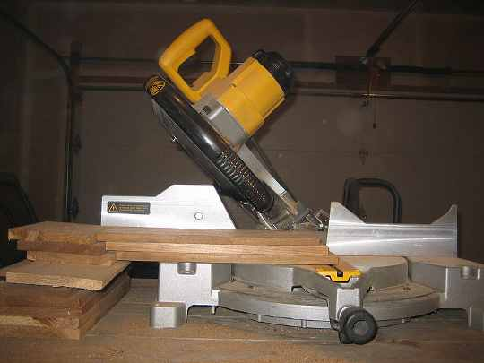 A compound mitre saw.