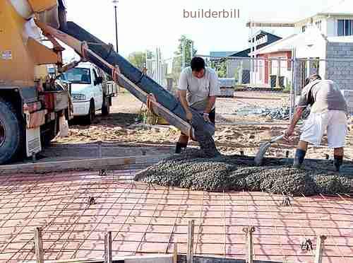 concrete pour to a driveway