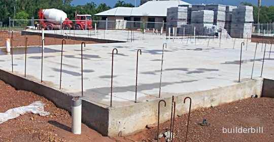 a completed raft foundation