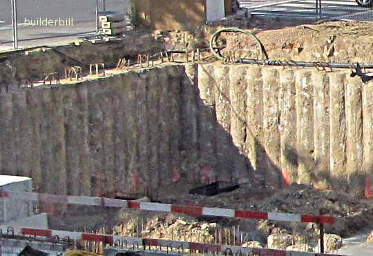 excavation walls drilled by CFA