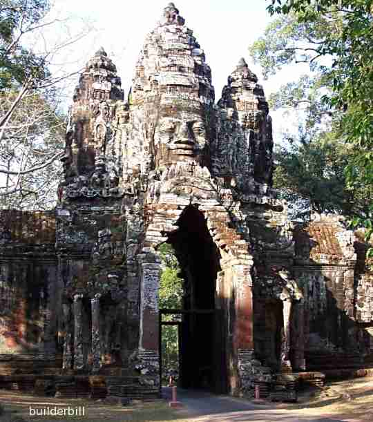 corbelled arch gateway to Angkor Thom
