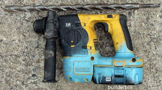 A cordless rotary hammer drill