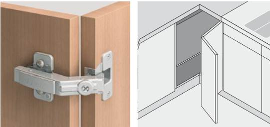 Cabinet Door Hinges A Hinge For Bi Fold To Corner Image Provided By Blum Australia Pty Ltd
