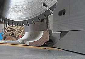timber cornice set in mitre saw