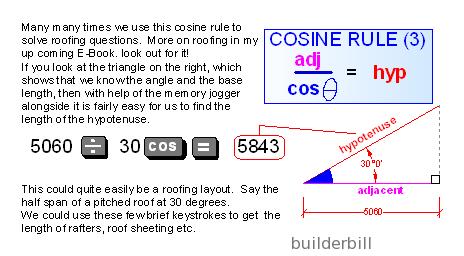 cosine rule